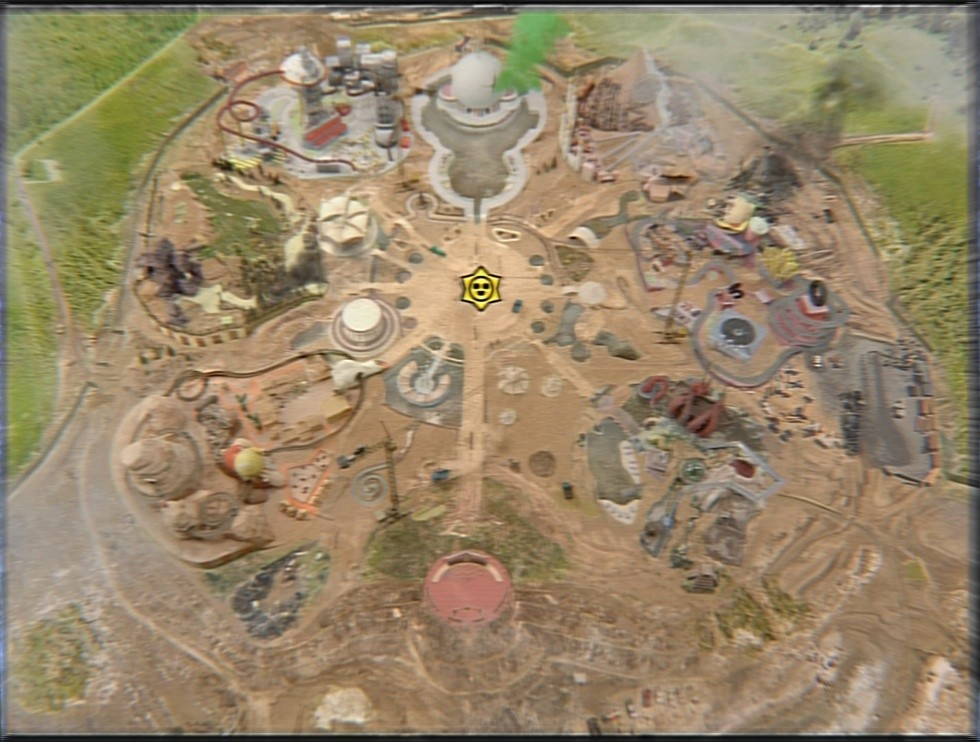 Starr Park visto por cima (várias áreas)