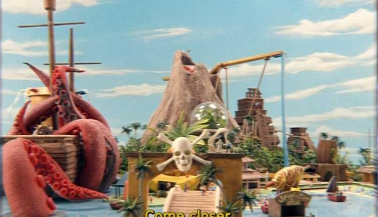 O polvo e navio pirata